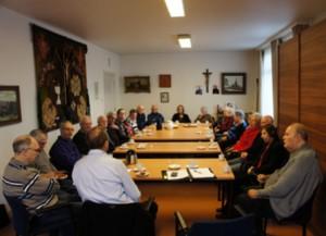 Een aantal vrijwilligers tijdens de jaarlijkse informatie bijeenkomst